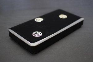 画像1: 高級硯箱 松竹梅4寸 黒 (1)