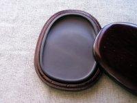 画像1: 端渓硯麻子坑 楕円硯 4インチ