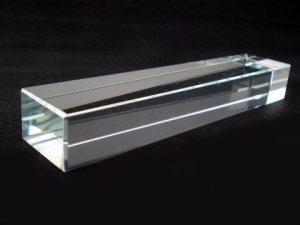 画像1: クリスタルガラス文鎮 角11.5cm (1)
