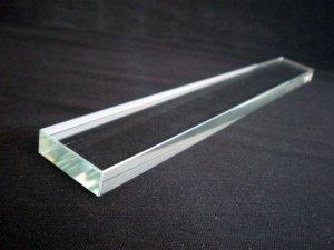 画像1: クリスタルガラス文鎮 角21cm (1)