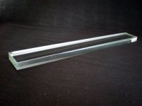 画像1: クリスタルガラス文鎮 角21cm